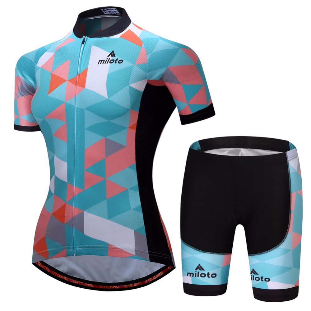 Cycling Clothing Women S Bicycle Clothing Set Short Sleeve Race Fit Cycling Jersey Mountain Bike Shorts Kit Ladies Cycling Set Reflective In Cycling Sets From