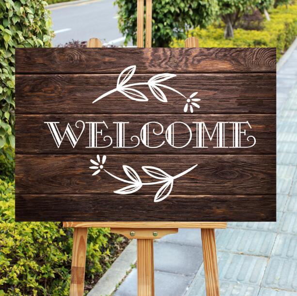 Unique Wood Welcome Sign Rustic Party Decor Farmhouse