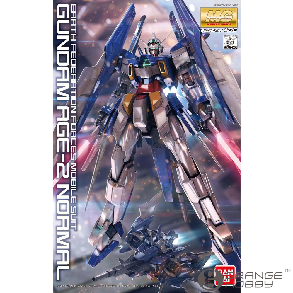 OHS Bandai MG 159 1/100 Gundam AGE-2 Normal Mobile Suit Assembly Model Kits oh ohs bandai tv iron blooded orphans season i 06 1 100 gundam kimaris booster unit tpye mobile suit assembly plastic model kits