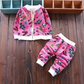 2016 new arrive autumn baby cotton sets fashion letters jackets pants suits for toddler boys girls clothing set newborn clothes