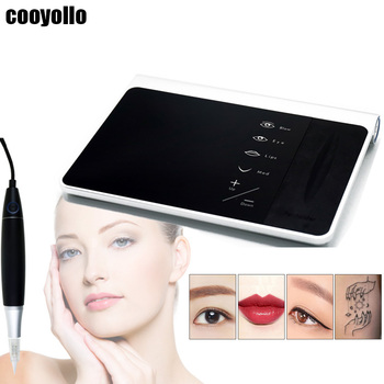 Top Grade Charme Princesse Permanent Makeup Machine Kit Eyebrow Lip Eyeliner Tattoo Digital Pen MTS Beauty Supply+ 10Pcs Needles