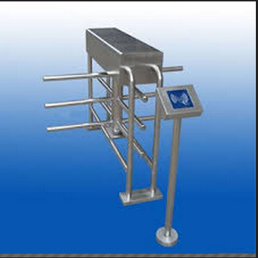 Full automatic Half height turnstiles for managing the flow of guests and staff turnstiles and swing doors