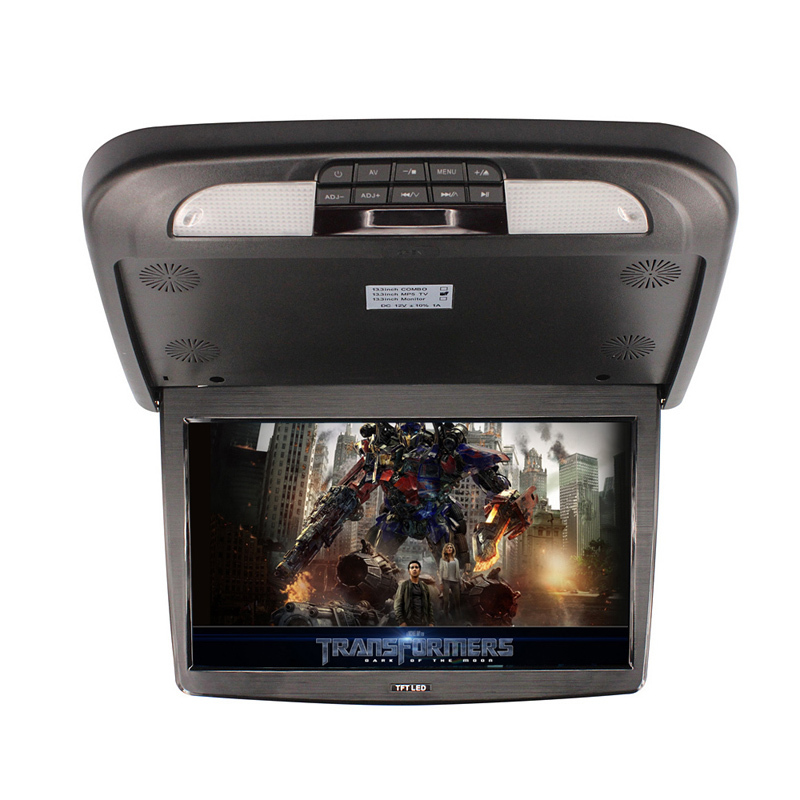 купить 1 pcs 13.3 Inch Car Roof Mount Flip Down Monitor TFT LCD Monitor Retail car electronics lcd car monitor Car Roof Mount Monitors по цене 4857.75 рублей