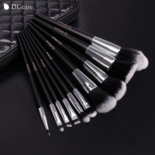10pcs professional brand makeup brushes high quality brush set with black bag beauty
