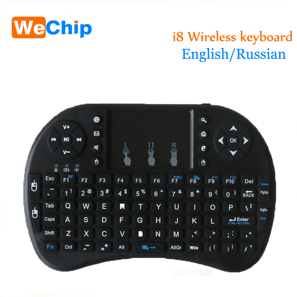 Mini i8 Wireless Keyboard 2.4GHz Russian English letters Air Mouse Remote Control Touchpad For Android Tv Box Notebook Tablet Pc  tronsmart tsm01 russian air mouse keyboard for tv box