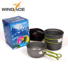 Outdoor Camping Cookware Pot Aluminum Alloy Ultralight Picnic Set Tableware For Trekking Tourist Tableware Camping Equipment недорого
