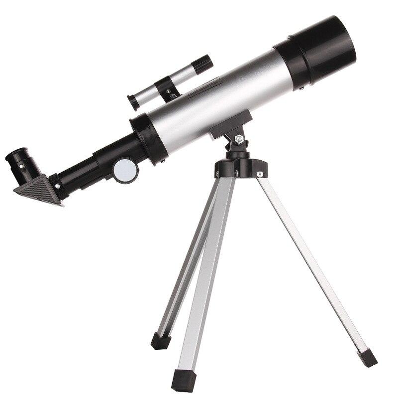 1 pc 50mm de Réfraction Astronomique Télescope 90 Fois Finder Portée Lunette avec Trépied Astrophile D'observation Spatiale Outils