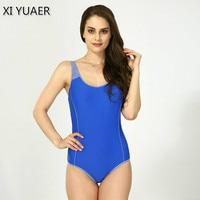 Maillot Athletic Training Trikini Sport Swimsuit One Piece Bathing Suit Women Monokini Racing Plus Size Swimwear
