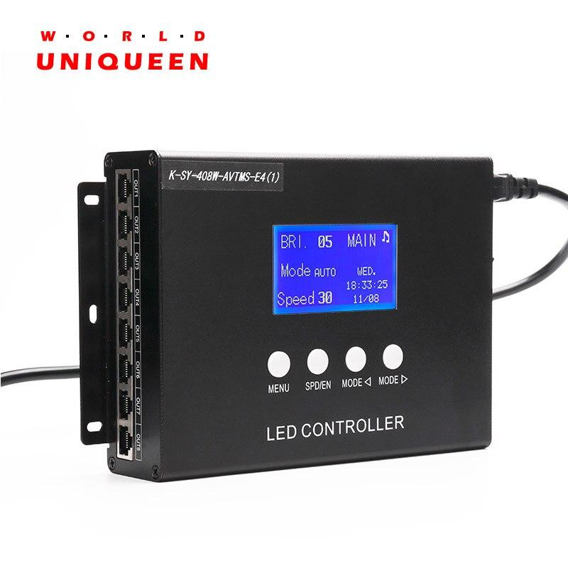 K-SY-408 8CH выход более 10000 точек поддерживает светодио дный пиксельный свет туннель времени контроллер с голосом и функция управления музыкой, ...