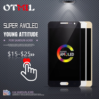 OTMIL 4.5AMOLED For SAMSUNG Galaxy A300 LCD DisplayTouch Screen Digitizer For SAMSUNG A3 2015 Display A300F A300H A300X A300M#1