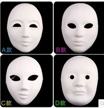 Wholesale ,free shipping, Party supplies /Halloween Masks/White environmental friendly pulp /PVC mask