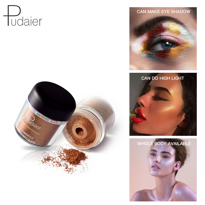 Pudaier 28 Colors Fine Powder Body Glitter Eyeshadow Diamond Pearl Eye shadow Professional Makeup shimmer eyeshadow Waterpoof in Eye Shadow from Beauty Health