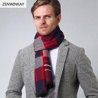 Zenwinkay 01 платки и Шарфы для женщин кашемировый шарф Для мужчин шарф шерстяной шарф пашмины зима теплая Основы мужской плед платки 180 см * 33 см
