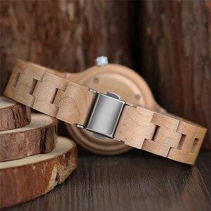 Image 5 - ساعات خشب الخيزران الطبيعي السيدات المألوف كوارتز ساعة اليد ساعة خشبية الإناث ساعة Relogio Feminino zegarek damski