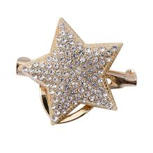 цены New Crystal Pentagram Star Mini Brooch Pin for Men's Suit Shirt Collar Pins and Brooches Badge Lapel Accessories