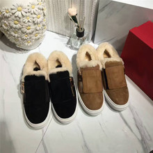 New Fashion Luxury Women shoes Warm winter Boots 100% Natural wool Genuine Sheepskin Leather Snow Boots
