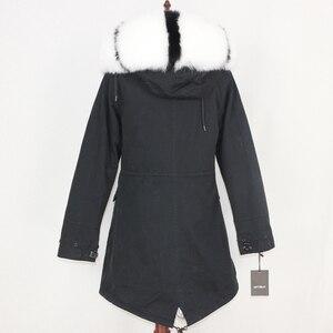 Image 5 - OFTBUY 2020 חורף מעיל נשים אמיתי פרווה מעיל ארוך Parka טבעי דביבון פרווה צווארון ארנב פרווה אניה עבה חם Streetwear חדש