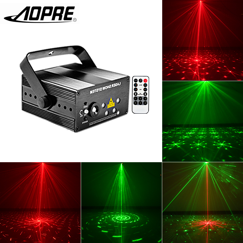 AOPRE RGB Laser Projector Light Mini Stage Lighting Effect DJ Party Home Wedding Disco Club Light Decoration Lamp MG96RGRG home entertainment new mini stage lamp beautiful lighting projector 3w led projection lamp low price high quality ktv party lamp