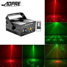 Aopre RGB лазерный проектор Light Мини Сценическое Освещение DJ партии Главная Свадебные дискотека свет лампы украшения mg96rgrg