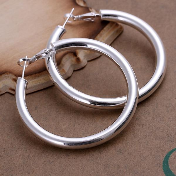 5mm Hollow Circles Hoop earings 925 Pure silver Prata Princo e149 gift box Free Fashion New Jewelry