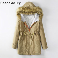 Casual Winter Long Sleeve Women's Fashion Jacket Hooded Winter Parka Coats Top Cotton Ladies Coat Outwear Free Shipping D 5