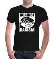 Herren Unisex Kurzarm T-Shirt Karşı Irkçılık Frieden barış el ele