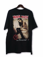 Vintage VTG 90s Marilyn Manson The Reverend Stitched Tour T Shirt USA Size Sleeves Boy Cotton Men T-Shirt top tee