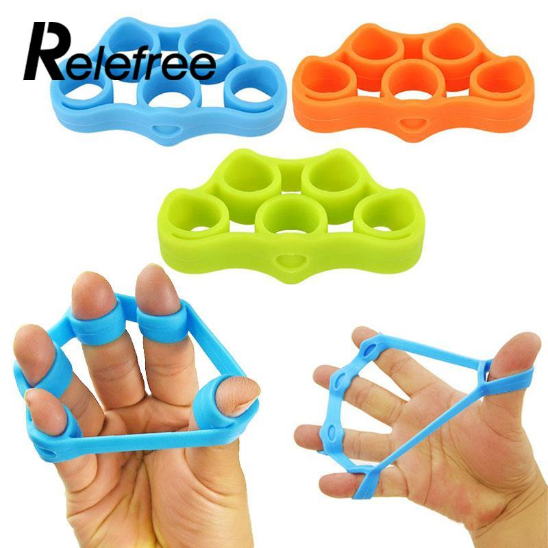 1Pcs Silicone Finger Gripper Strength Trainer Resistance Band Hand Grip Wrist Yoga Stret ...