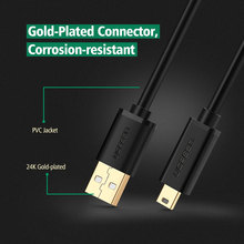 Ugreen Mini USB Cable Mini USB to USB Fast Data Charger Cable for Cellular Phones MP3 MP4 Player GPS Digital Camera HDD Mini USB