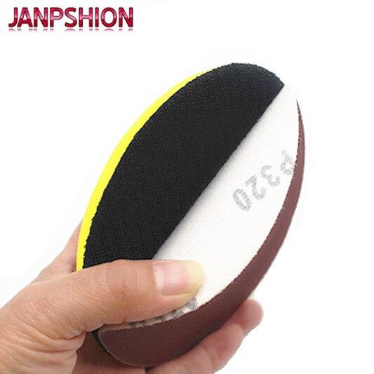 JANPSHION 40pc carta abrasiva rotonda rossa carta abrasiva per - Utensili abrasivi - Fotografia 4