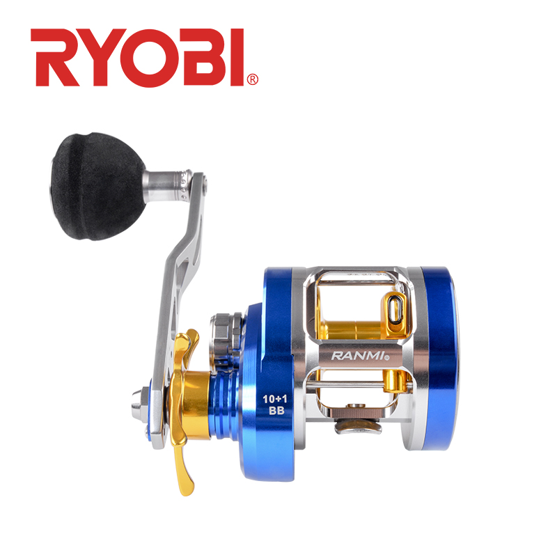 RYOBI Fishing-Reel Reel-Up Trolling Slow-Jigging Saltwater Baitcasting Left/right-Handle