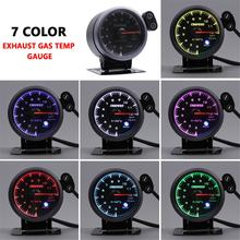 CNSPEED Auto Car Exhaust Gas / Water Temp Gauge 2.5 inch 60mm 7 Colors Backlight Pointer Car Exhaust Temperature Meter(China)
