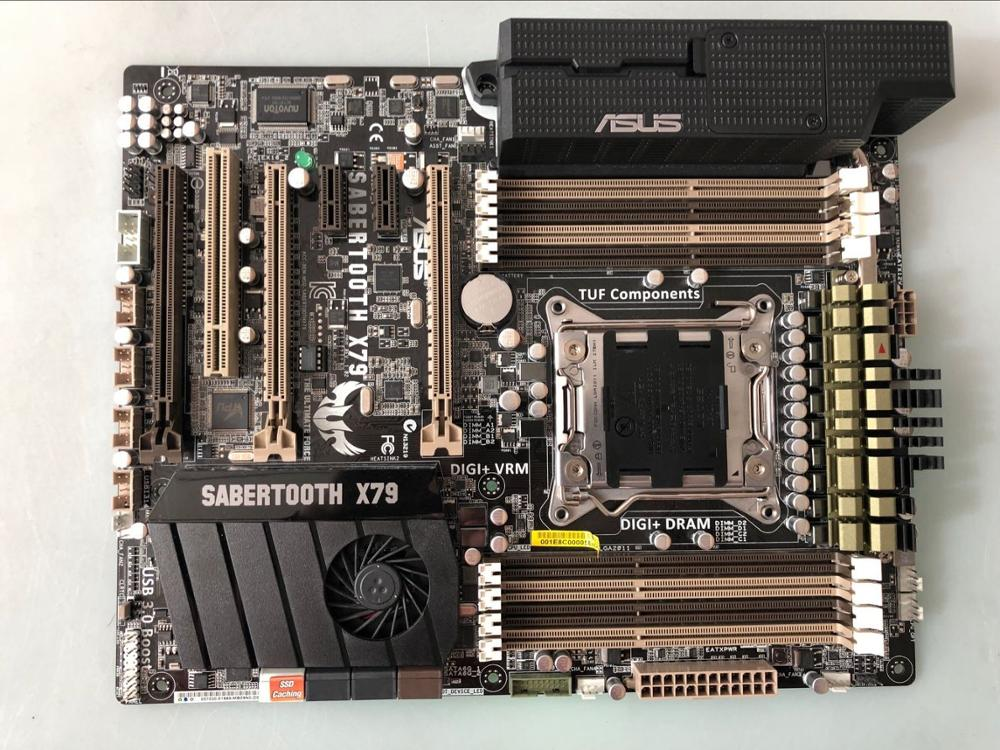 Free Shipping Original Motherboard For ASUS SABERTOOTH X79 DDR3 LGA 2011 USB2.0 USB3.0 Boards 64GB X79 Desktop Motherborad