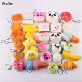 Free shipping 10pcs/set Mobile Phone Straps Squishy Cute Soft Bread/Donut Phone Keychain mixed for all mobile phones