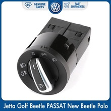 Chrome Control Fog Head light Lamp Switch for VW Volkswagen Jetta Golf Beetle PASSAT New Beetle Sharan Polo Lupo 3BD 941 531 1pcs oem front left halogen fog lamp light 16d 941 699 for vw volkswagen jetta mk6
