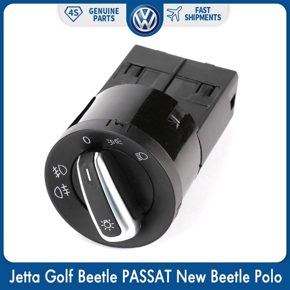 Control de cromo niebla cabeza lámpara de luz interruptor para VW Volkswagen Jetta Golf escarabajo PASSAT nuevo escarabajo Sharan Polo Lupo 3BD 941, 531