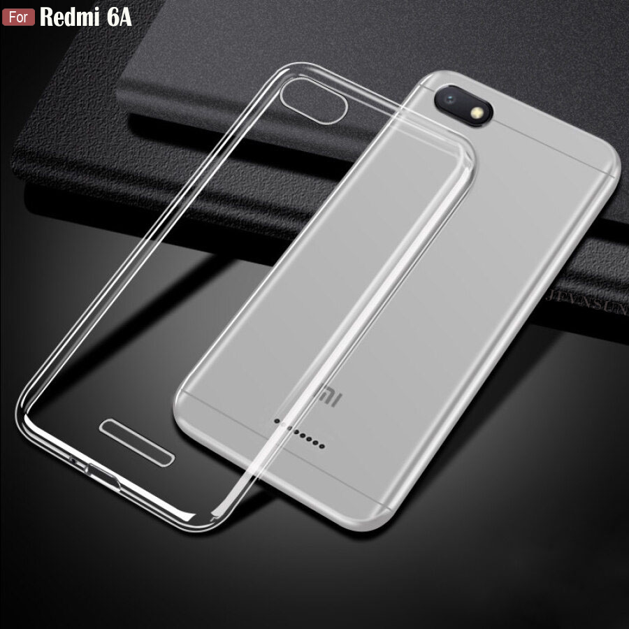 "For Xiaomi Redmi 6A Case 2GB+16GB 5.45"" Ultra Thin Transparent Clear Crystal Soft TPU Protective Case For Xiaomi Redmi 6A Cover(China)"
