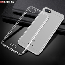 For Xiaomi Redmi 6A Case 2GB+16GB 5.45″ Ultra Thin Transparent Clear Crystal Soft TPU Protective Case For Xiaomi Redmi 6A Cover