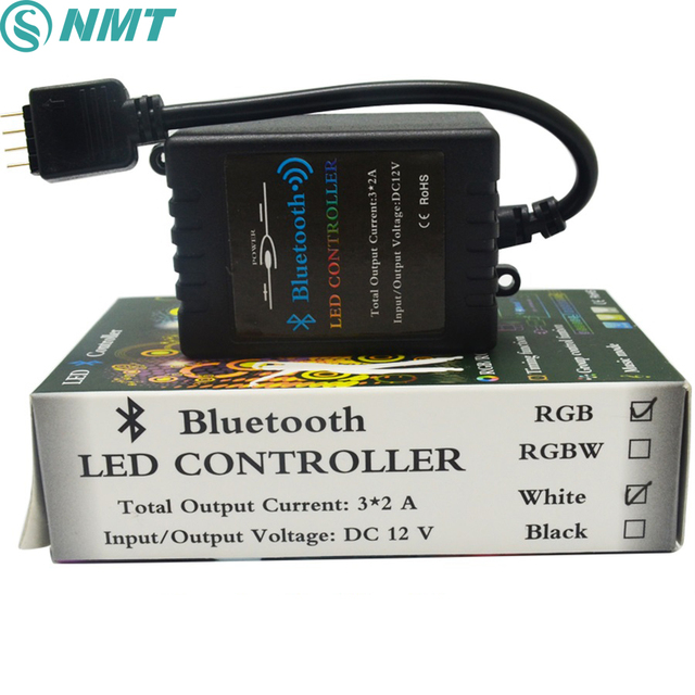 DC12V Bluetooth LED RGB Controller Wireless IOS/Android music,time Bluetooth 4.0 Controller for 5050/3528 RGB led strip