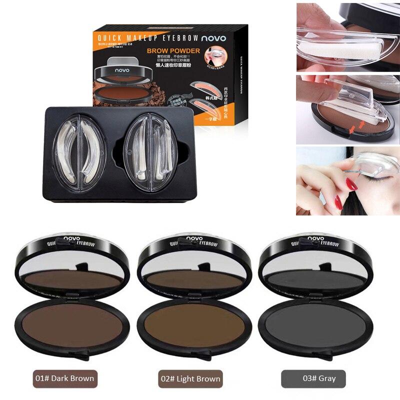 2017 Eye Makeup Seal Shape Eyebrow Enhancer Easy to Wear Waterproof Black Brown Eyebrow Powder Makeup Quick Brow Stamp