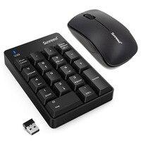 Новый 18 ключи 2,4 г мини Беспроводной клавиатура Мышь USB цифровой gaming keyboard И Мышь комплект поддержки Windows XP, Vista 7 8 10