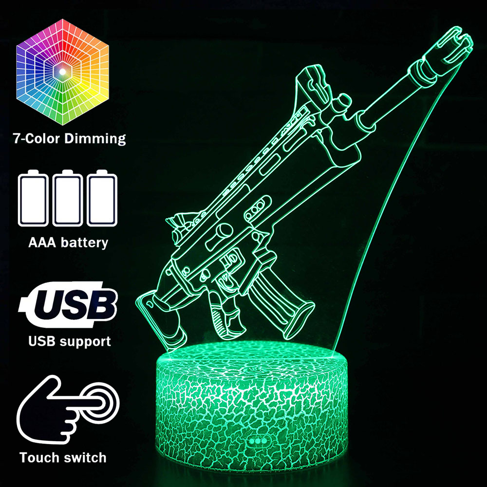 Magiclux Novelty Lighting 3D Illusion LED Lamp Fortress Night Scar Night Lights Bedroom Decoration Battle Royale Creative Lamps