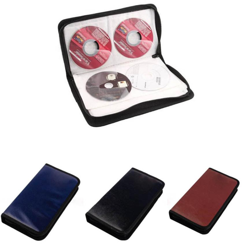 New Qualified 80 Disc CD Holder DVD Case Storage Wallet VCD Organizer Faux Leather Bag Levert Dropship dig635