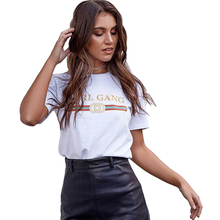 CDJLFH Tshirt 2018 New Harajuku Printed White Women T-shirts Casual Tee Tops Summer Short Sleeve Female T shirt Women Clothing