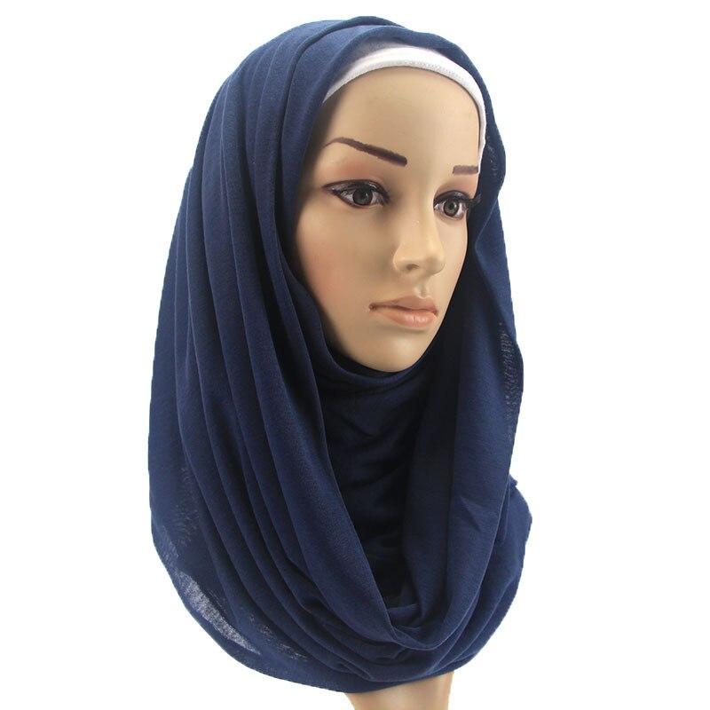 16 Colors Solid Maxi Jersey Hijab   Scarf     Wrap   ElasticModell Cotton Jersey   Scarf   Arab Snood Islamic Muslim Head Hijab 180*80Cm