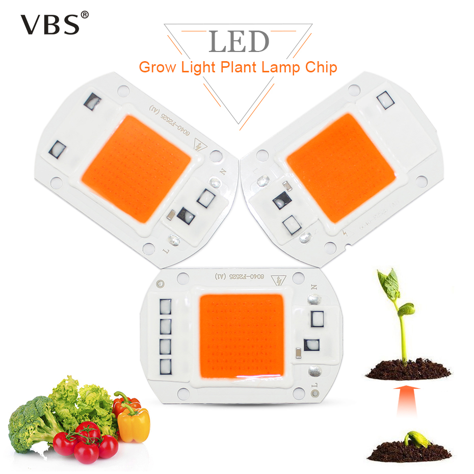 Growing Lamps COB LED Chip 110V 220V Full Spectrum Led Grow Light Bulb 20W 30W 50W Growing Lights Phyto Lamp Fitolampy
