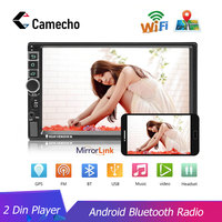 Camecho 2 din Car Radio Android GPS Navigation Autoradio Bluetooth Wifi MirrorLink Multimedia Player Support Camrea Audio Stereo
