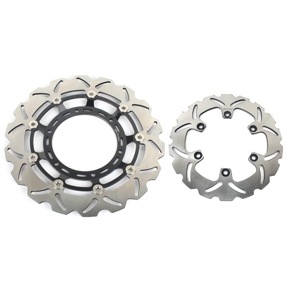 BIKINGBOY спереди и сзади тормозные диски роторов диск для YAMAHA XT660X супермото XT 660X2004-2016 SuperMotard волна 320 мм диск