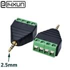 1pcs Video AV Balun 2.5mm 4 Pole Stereo Male to AV Screw Terminal Stereo Jack 2.5 mm male 4 pin Terminal Block Plug connector