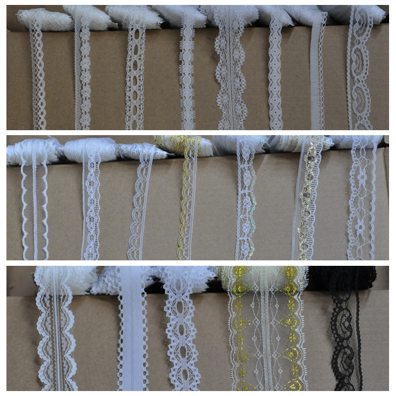 10 Yards(9.1m) /lot Cotton Polyester Lace Ribbon Embroidered Net Lace Trim For Sewing Clothing/wedding/Decoration/Scrapbooking